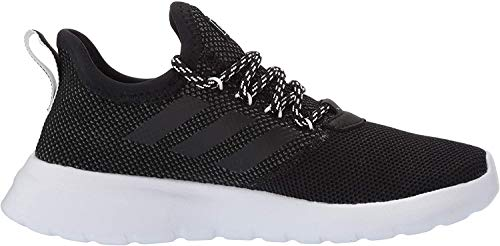 adidas Women's Lite Racer Reborn Running Shoe, Black/Black/Grey, 9 M US