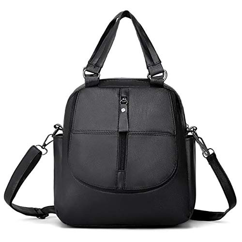 QPYYBR Mochila de cuero para mujer, bolso de escuela, bolso de viaje impermeable clásico, bolso de hombro multifunción