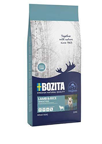 BOZITA Lamm & Reis Weizenfrei Hundefutter - 12 kg - nachhaltig produziertes Trockenfutter für magensensible erwachsene Hunde - Alleinfuttermittel