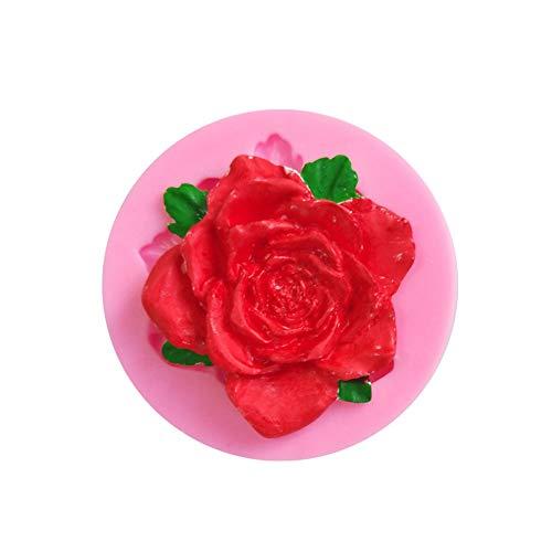 KsimYa Rose Flower Shape Fondant Cake Molde de Silicona Cookie Moldes de...