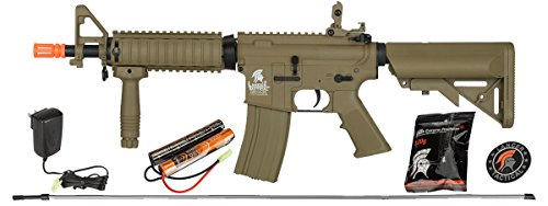 LANCER TACTICAL Gen 2 CQB MOD 0 AEG LT-02 Electric Automatic Airsoft Gun, Dark Earth - High Velocity