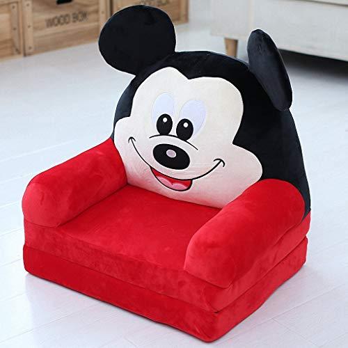 Bébé petit canapé mignon dessin animé enfants canapé chaise mini unique bébé chaise paresseux enfants chaise chaise (Couleur : Red rice mouse)