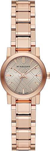 Reloj de pulsera suizo con esfera de oro rosa de 26 mm para mujer The City BU9228