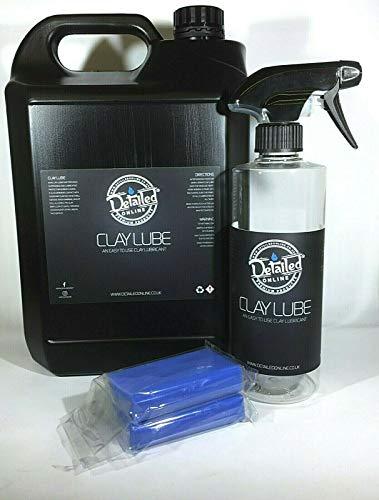 Clay Bar X2 Car Clay Lube Cloth 5 Litre Lubricant Detailing Spray Cherry...