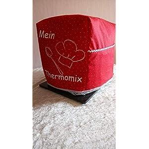 Abdeckhaube*Schutzhaube*Husse*Cover für den Thermomix TM6 TM5 *Mein Thermomix* Rot/Weiss