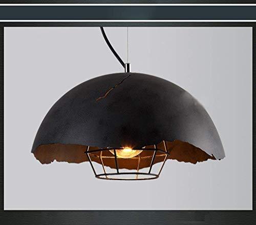 Hanglamp kroonluchter Retro Wok Art kroonluchter restaurant bar creatieve eenvoudige persoonlijkheid industriële explosiebescherming ijzer zwart kroonluchter.