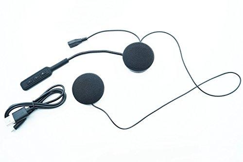 - Senza marca/Generico - Microfono Auricolari Bluetooth Impermeabile Casco Moto Scooter CHIAMATE MP3 J008
