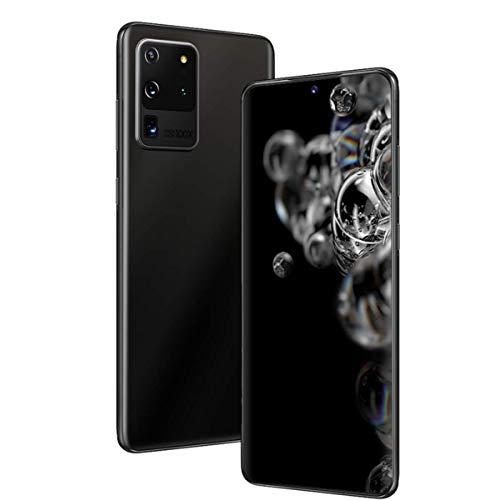 EANSSN - Teléfono inteligente con pantalla completa de 6,8 pulgadas, red 4G, 5G, desbloqueo de la huella digital del reconocimiento facial (batería de 4800mAh, 8 GB + 512 GB), color negro