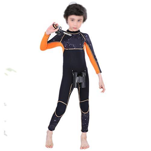 HO-TBO Kinder Duikpak, Eendelig Wetsuit 2.5mm Kinderbadmode Lange mouwen Warm Duiken Drijvende Zonnebrander Jellyfish Voor Kinderen Ideaal voor Duiken Beginners