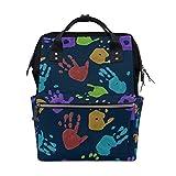 JinDoDo - Mochila de colores con estampado de palma, para estudiantes, para parejas, para mamá, bolsa de ordenador