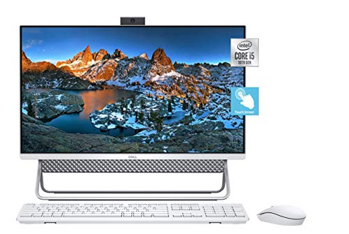 """2021 Newest Dell Inspiron 5000 All in One Desktop 24"""" FHD Touch-Display, i5-10210U, 32GB DDR4 Memory, 1TB Solid State Drive, HDMI, WiFi, Pop-up Webcam, Wireless Mouse&Keyboard, Win10"""