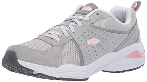 Dr. Scholl's Shoes womens Bound Sneaker, Grey Suede, 9 US