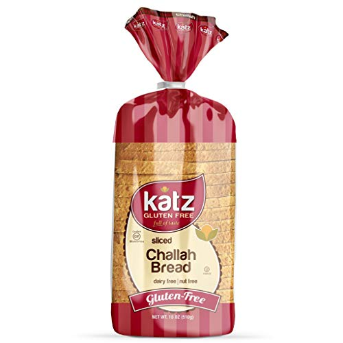 Katz Gluten Free Sliced Challah Bread | Dairy Free, Nut Free, Gluten Free | Kosher (3 Packs of 1 Sliced Loaf, 18 Ounce Each)