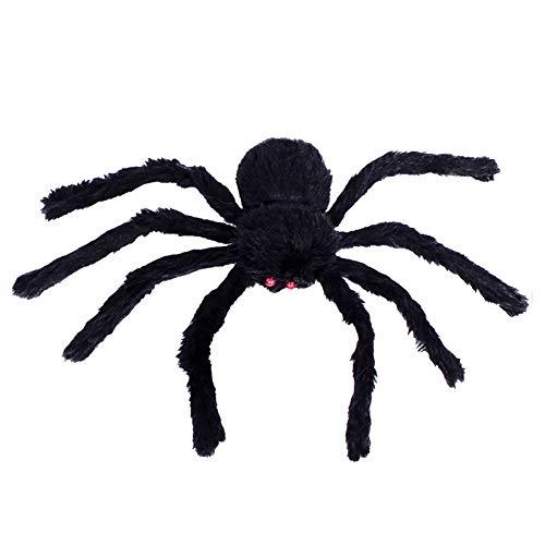 song rong 30cm Halloween Spiders Schwarz Große Spinnen-Plüsch-Spielzeug Realistische haarige Spinne Halloween-Party Scary Dekoration 1PC