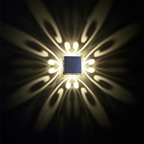 uksunvi LED Wandleuchte 3W Moderne 4 Schmetterling AC85-265V Wandleuchten Aluminium kreative Lampe Innenleuchten für Zuhause energiesparende Lichtpunktlicht LED-Lampe Dekoration Wandmontage (Warmweiß)