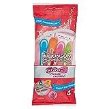Wilkinson Sword - Rasoio Usa e Getta Extra 3 Beauty - Rasoio 3 Lame per Donna - Per Pelli Sensibili - Colore Rosa - Confezione da 4 Rasoi