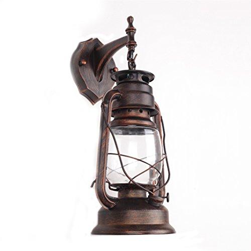 Zheng Hui Shop Lampe de Mur extérieur en Fer forgé Vintage rétro éclairage Industriel Couloir allée Feux A+ (Color : Red Bronze, Size : 18 * 35cm/7.1 * 15.0inch)