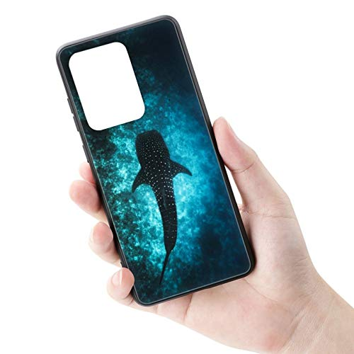 Customized Whale Shark Samsung Galaxy S20 Plus Case Black TPU Protective Shockproof Non-Slip Tempered Glass Phone case for Samsung Galaxy S20 Plus