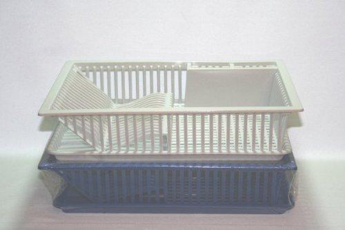 Geschirrabtropfer mit Tablett Abtropfgestell 47 x 38 x 9 cm