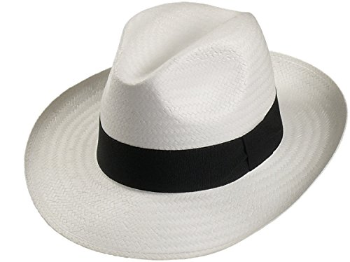 Harrys-Collection Harrys-Collection Leichter Hut in 3 Farben große Bogartform!, Kopfgröße:61, Farben:weiss