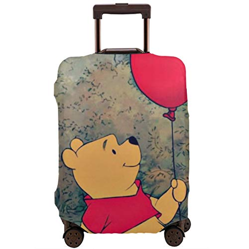 Travel Luggage Cover Anime Color Winnie The Pooh Suitcase Covers Protectors Zipper Washable Baggage Luggage Covers Fits M