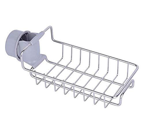 Soporte de esponja para grifo, organizador de baño de jabón, almacenamiento para fregadero de cocina, escurridor de líquidos, apto para grifo redondo