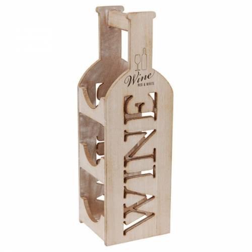 Porte bouteille décoratif en bois