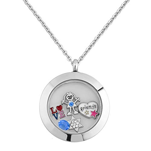 Cory Keyes BFF Best Friend Floating Charms Set for Glass Living Memory Locket Necklaces (BFF-1)