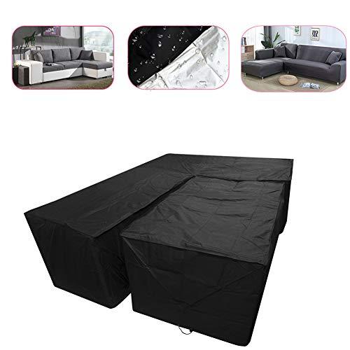 NTT Cubierta de sofá seccional para Muebles de Patio: con Cubiertas de Mesa de café, diseñada con Tela Oxford, Protector Solar Impermeable, a Prueba de Humedad y Resistente a los Rayos UV
