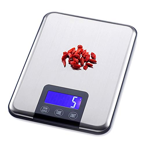 Digitale roestvrijstalen multifunctionele keukenweegschaal, 15 kg/1 g