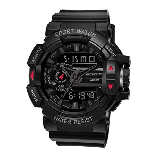 xiaoxioaguo Reloj militar para hombre LED de cuarzo resistente al agua reloj de los hombres de los deportes al aire libre relojes digitales de los hombres de negocios