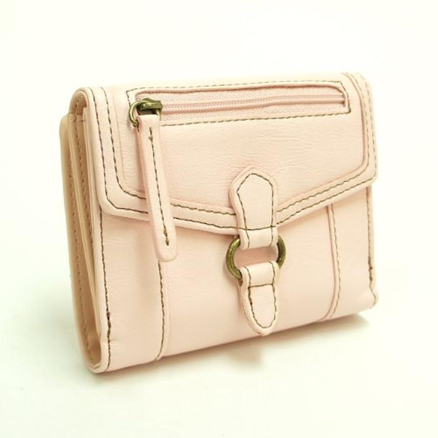 ユーザーアカデミー脅迫ベージュのステッチがかわいいピンクのレディース二つ折り財布【TC2】 [ウェア&シューズ] [ウェア&シューズ]
