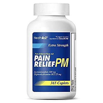 Compare to Tylenol PM active ingredient. 500 mg Acetaminophen, a proven pain reliever, helps relieve muscle, joint, headache, and arthritis pain quickly. 25 mg Diphenhydramine, a gentle, non-habit-forming sleep aid, helps you fall asleep and stay asl...