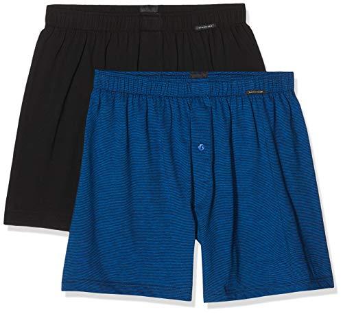 Schiesser Herren 2Pack Boxershorts, Mehrfarbig (Sortiert 1 901), XX-Large (Herstellergröße:008) (2er Pack)