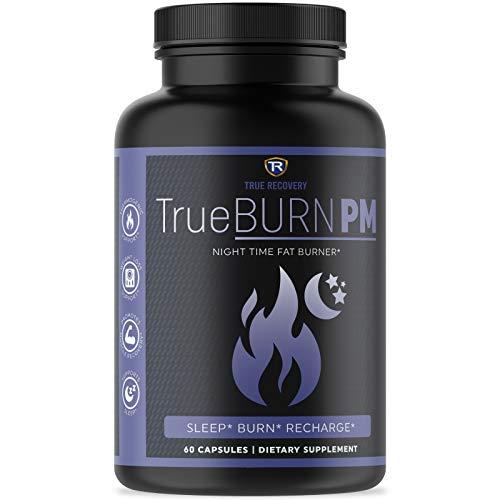 TrueBURN-PM Night Time Fat Burner for Women & Men - Sleep Aid, Appetite Suppressant, Metabolism Booster with Valerian Root, Lemon Balm, Passion Flower & Melatonin - 60 Weight Loss Pills