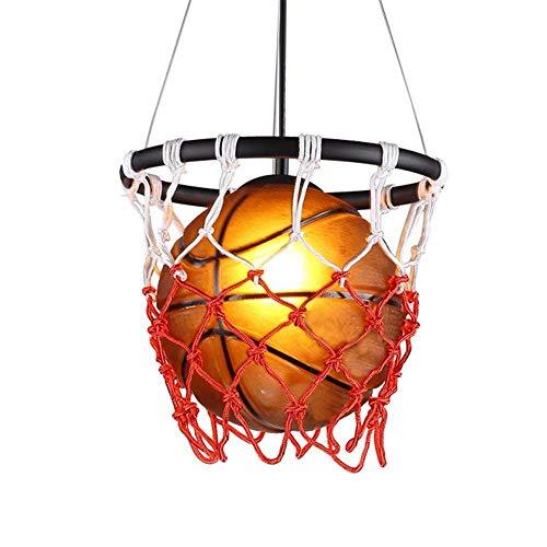 Luyshts Industrial E27 País Retro Clásico Pintura Baloncesto Estilo Personalidad Restaurante Café Bar Tienda Deportes Tema Luces LED
