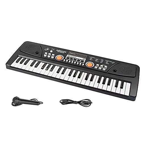 Niños Piano Teclado Eléctrico 49 Teclas con Micrófono Juguete Educativo Instrumento de...