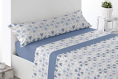 Energy Colors Textil - Hogar - Coralina Soft 200 gr - Juego Sábanas Térmicas Tipo Polar 3 Piezas Invierno Perchado Doble Cara (Jimay Azur, 150_x_200_cm)