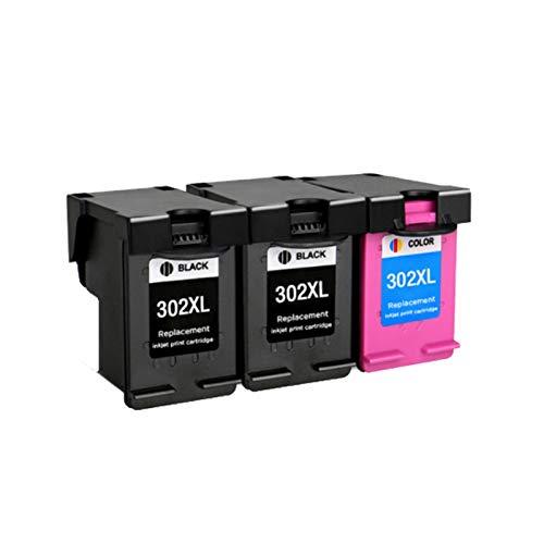 CMDZSW Reemplazo Compatible con 302XL para HP 302 HP302 302XL para Cartucho de Tinta HP302 XL para HP DeskJet 1110 1111 1112 2130 2131 Impresora (Color : 2BK 1C)