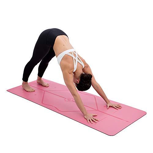 Liforme Le Tapis de Yoga Le Tapis de Yoga Écologique et Antidérapant avec Un Système d'Alignement Unique et Original - Tapis De Yoga Biodegradable - Gris