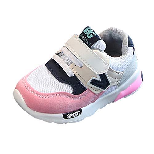 Laufschuhe Kinder Unisex, Sunday Junge Mädchen Casual Baby Turnschuhe Winter Sportschuhe Outdoor Runningschuhe Wanderschuhe Sternchen Schuhe k-45 (29 EU, Rosa-NO LED)