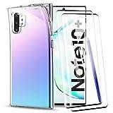 KEEPXYZ Coque Samsung Galaxy Note 10 Plus, avec Protection d'écran Verre Trempé, Silicone TPU...
