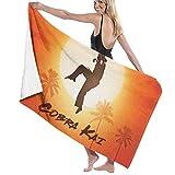 AGSIGGS Cobra Kai Toalla de playa de algodón absorbente toallas de baño de microfibra...