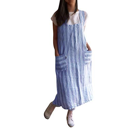 LISTHA Cotton Linen Garden Work Pinafore Dress Women Pinafore Square Cross Apron
