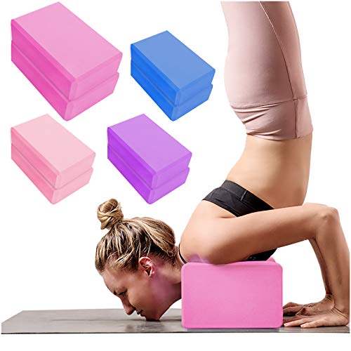 2 Pack Yoga Blocks High Density EVA Foam Brick Soft