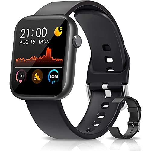GEQWE 1.3 Touchscreen Smartwatch Frauen Männer, Smart Watch Spiele Sleep Tracker Sportuhr Kalorien Schrittzähler Blutdruckmessgerät Bluetooth Armband Für Android iPhone
