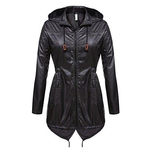 WEIMEITE Frauen Leichte Packable Outdoor Coat Winddicht Hoodies Regenjacke wasserdichte Aktive Outdoor Jacke