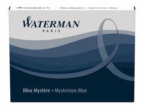 Waterman - Cartuchos de tinta (tamaño grande, 8 unidades), color azul