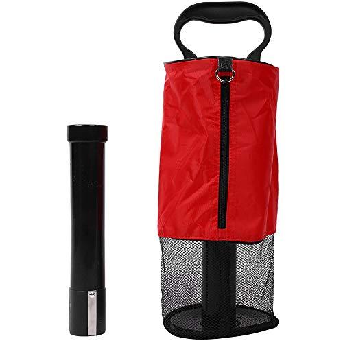 VGEBY1 Recoger la Pelota de Golf, Bolsa de Nylon Tubo de plástico Pelota de Golf Retriever para Golf Training Golf Grabber Tool