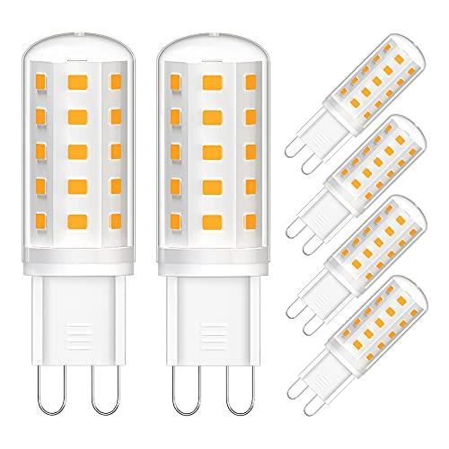 G9 LED Warmweiß, 3W LED Leuchtmittel G9 (ersetzt 30W), 3000K Warmweiss LED Lampen, 300LM, 360°Abstrahlwinkel, Kein Flackern LED Birnen, Nicht Dimmable, 6er Pack